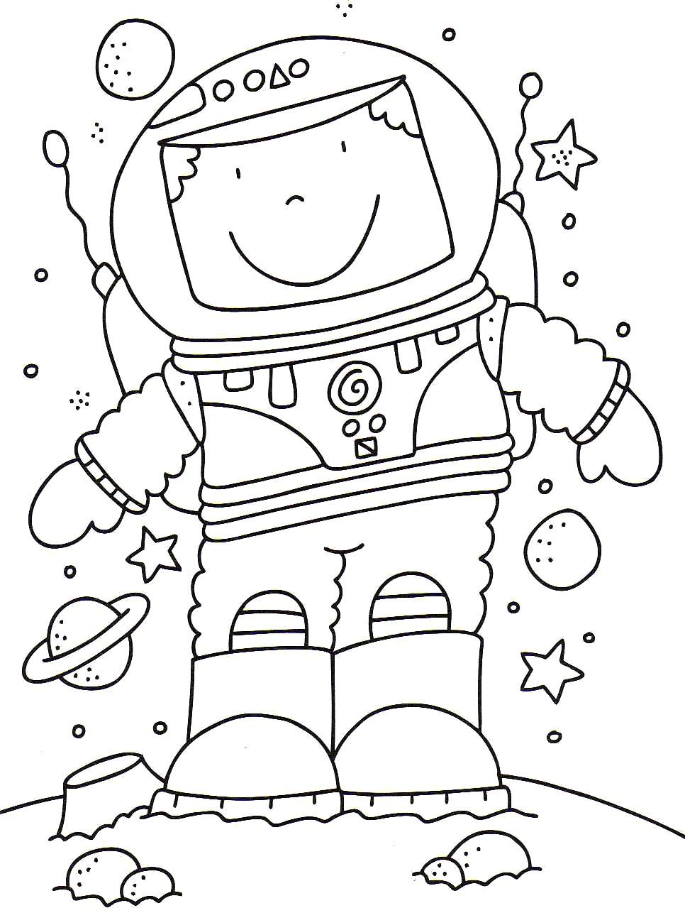 Astronaut coloring pages to download