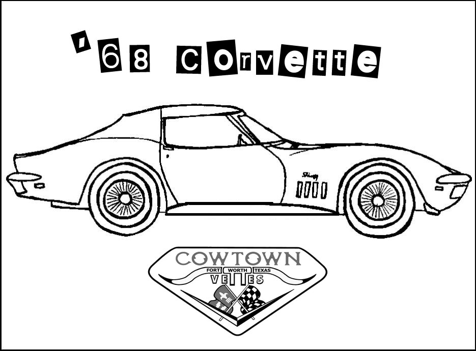 cars super fast cars corvette coloring pages
