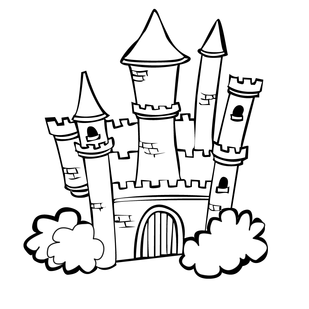 Coloring Castle Alphabet Pages : Castle coloring pages to download and print for free