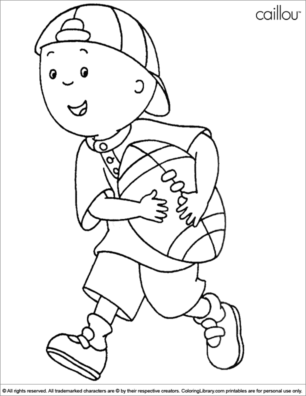 Caillou coloring pages to download