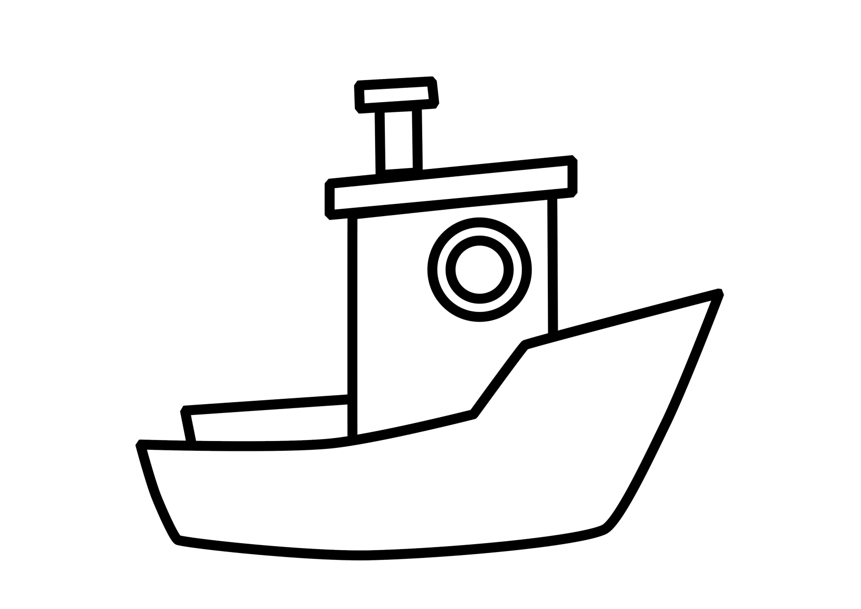 coloring book pages boat - photo#32