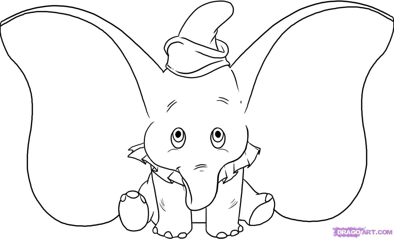 baby elephant coloring pages print - photo#37
