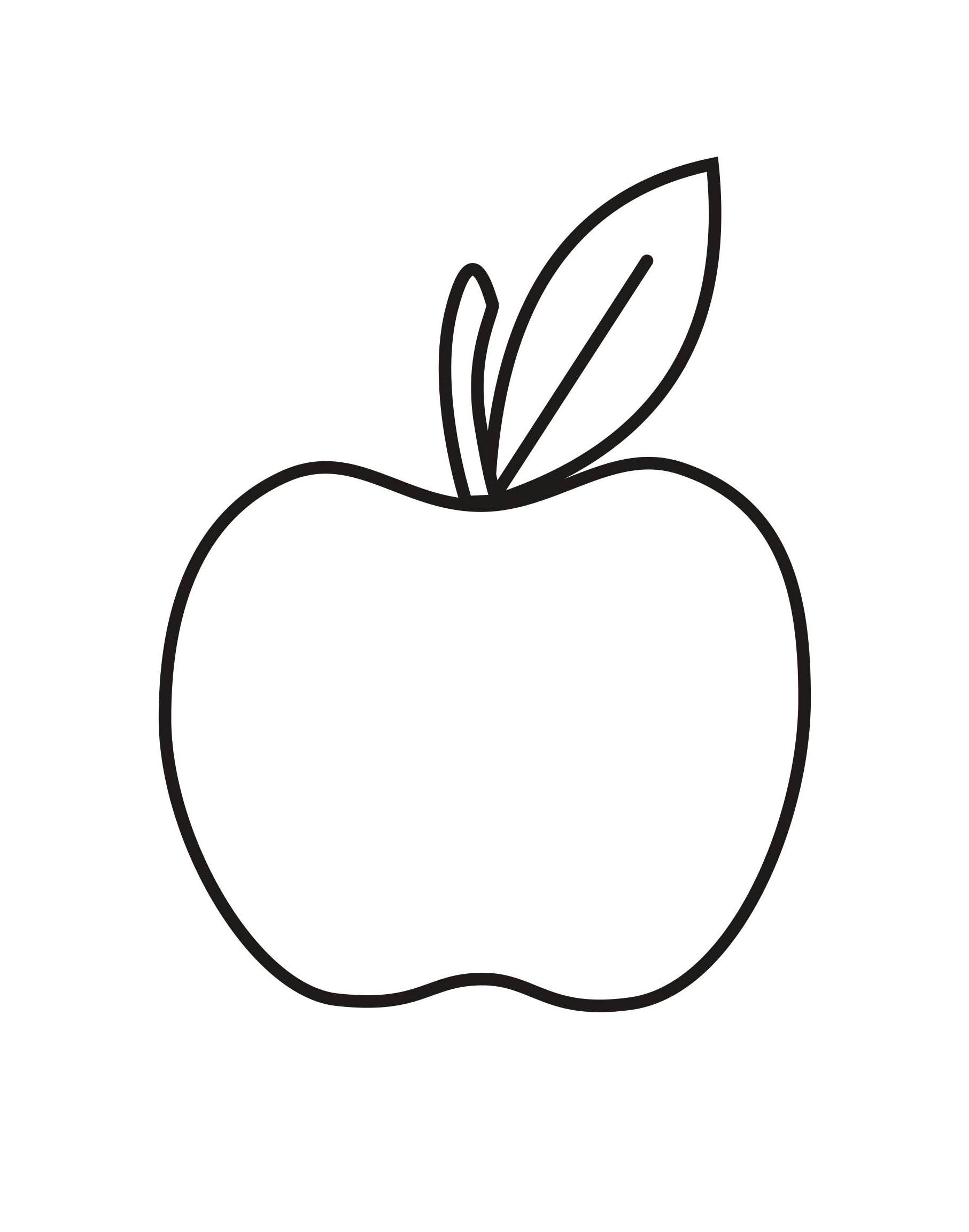 my apple book coloring pages - photo#23