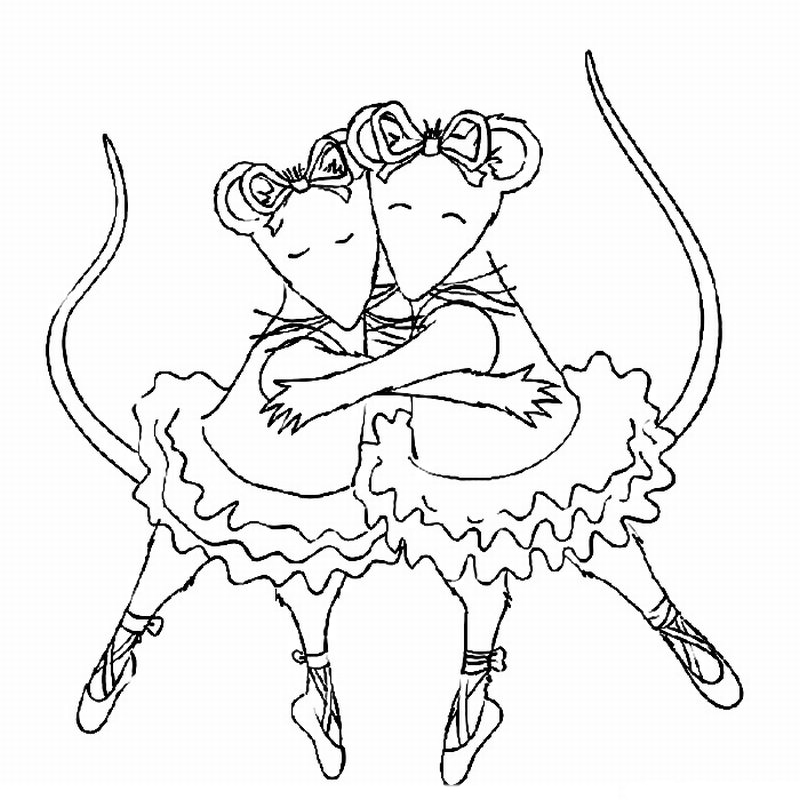 Angelina Ballerina Coloring Pages To Download And Print
