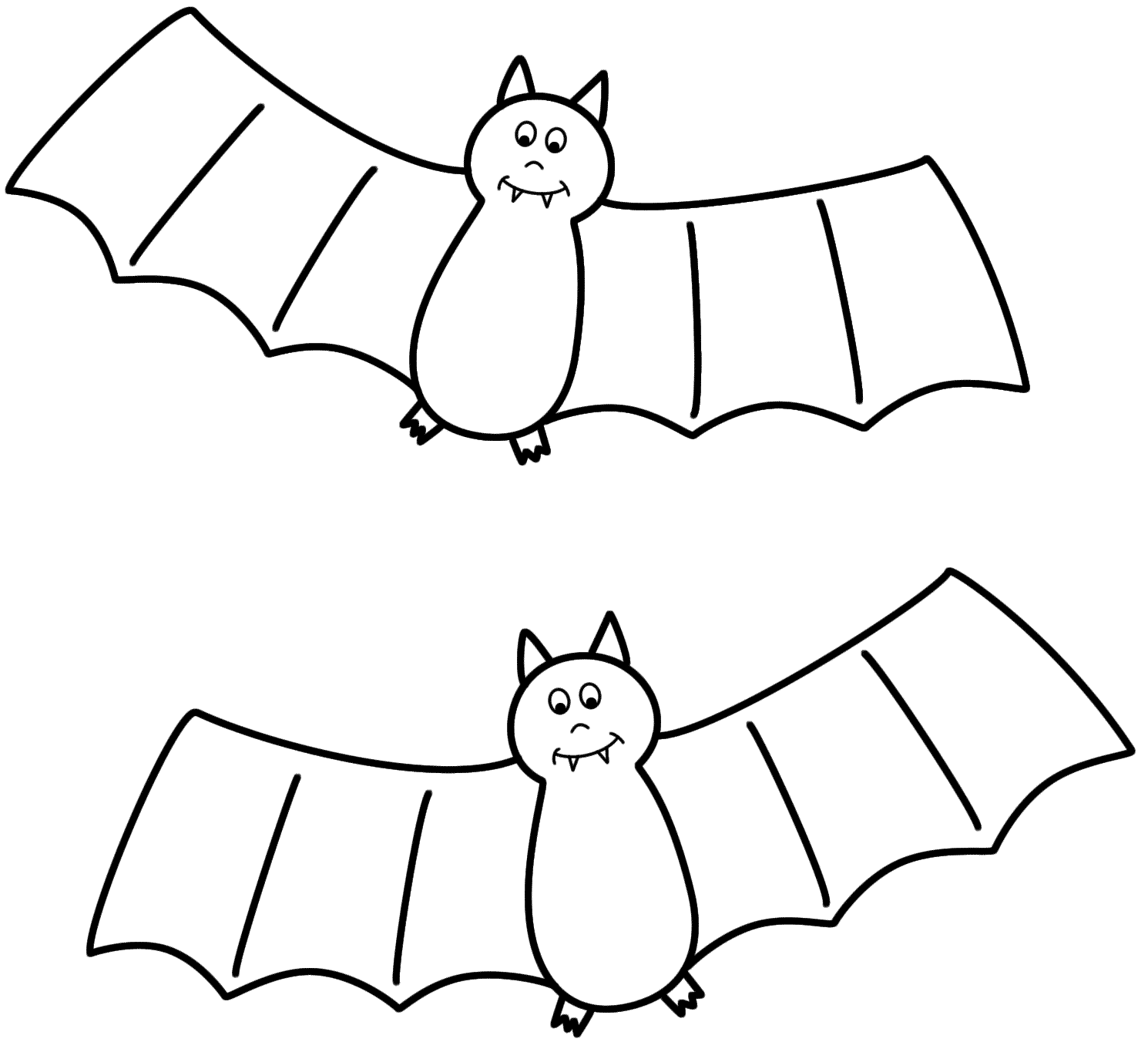 Bat coloring pages to download and print for free