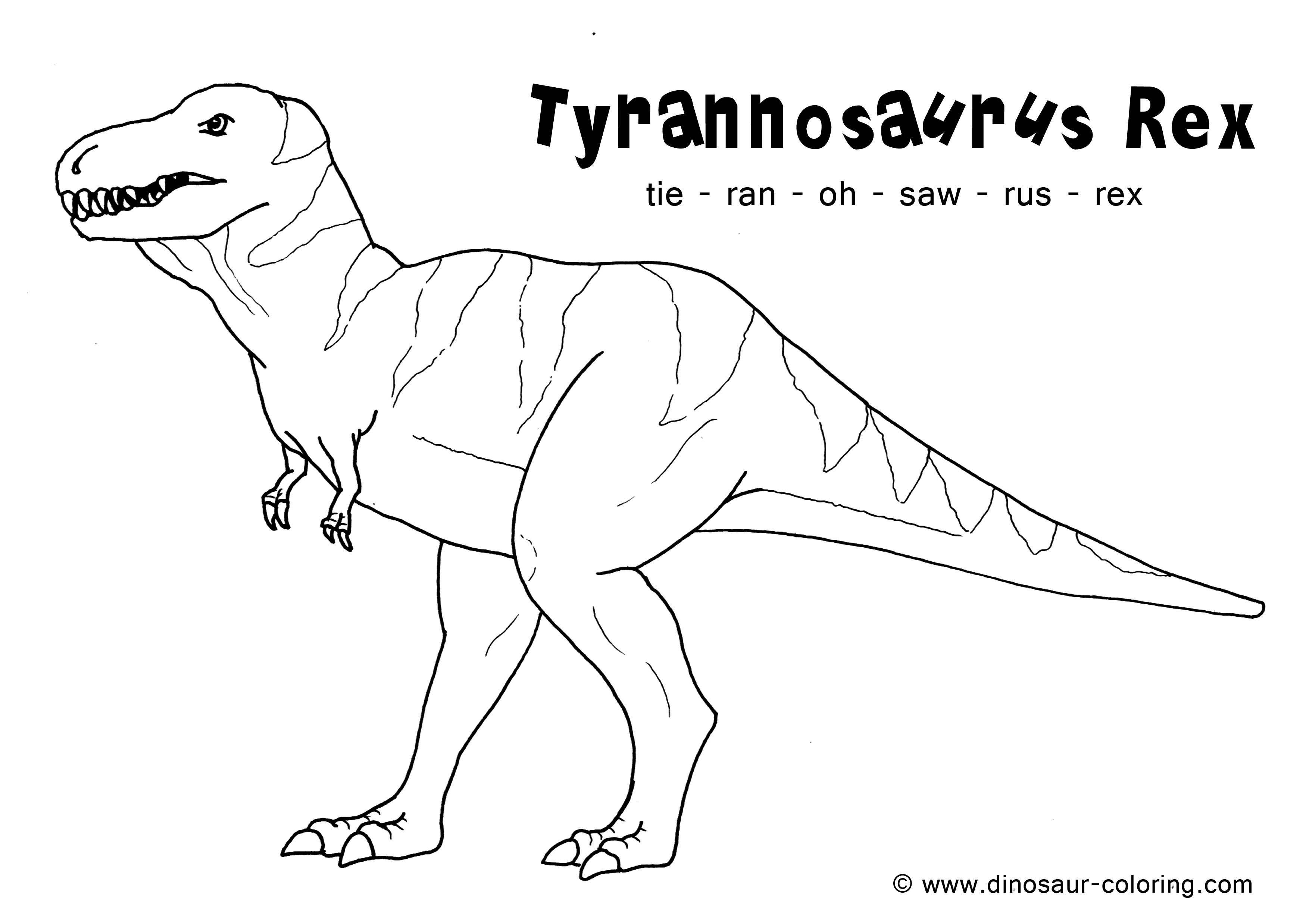 trex coloring sheets - Hobit.fullring.co