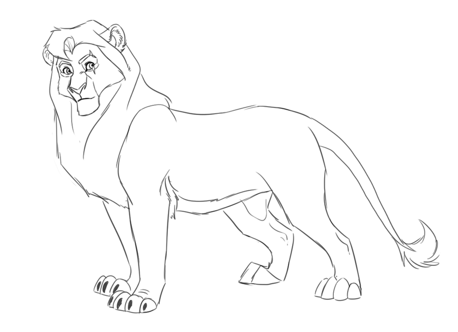 Kovu coloring pages download and