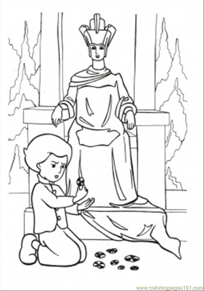 The snow queen coloring pages download