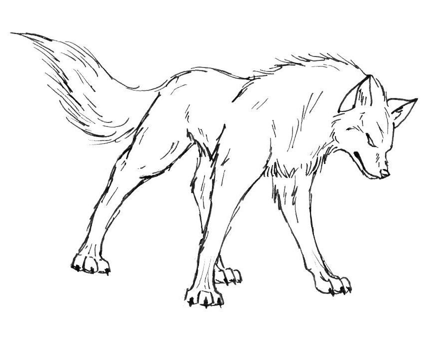 wolf coloring pages - Wolf Coloring Pages