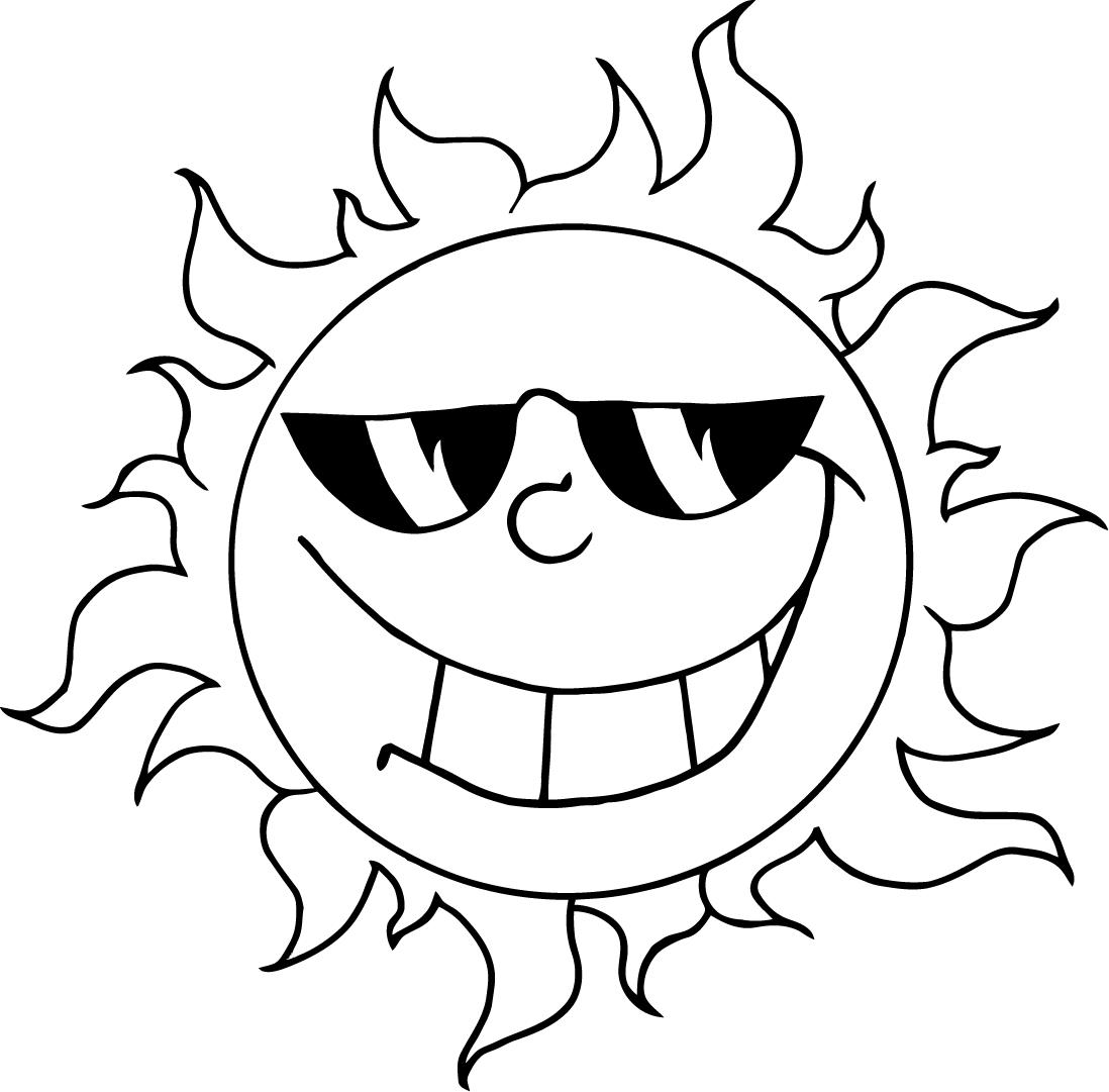 Sun coloring pages to download