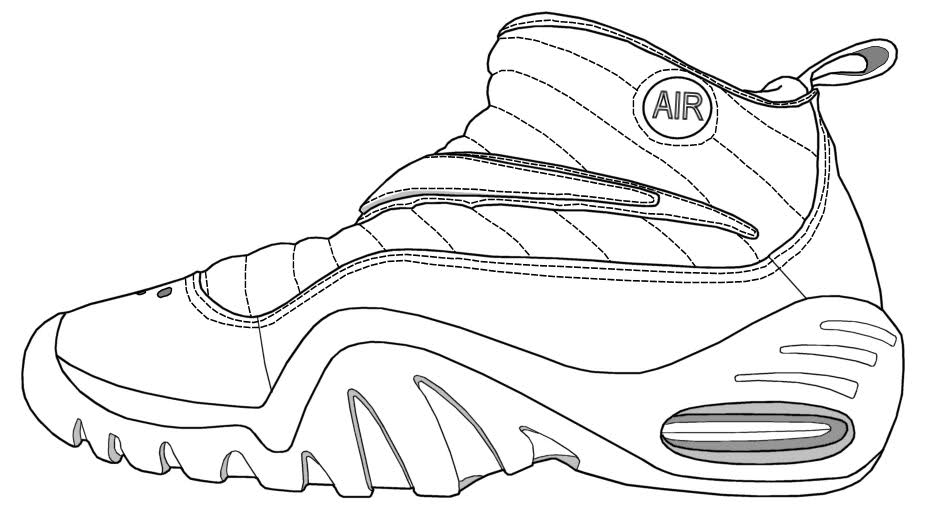 Magic image with sneaker coloring page printable
