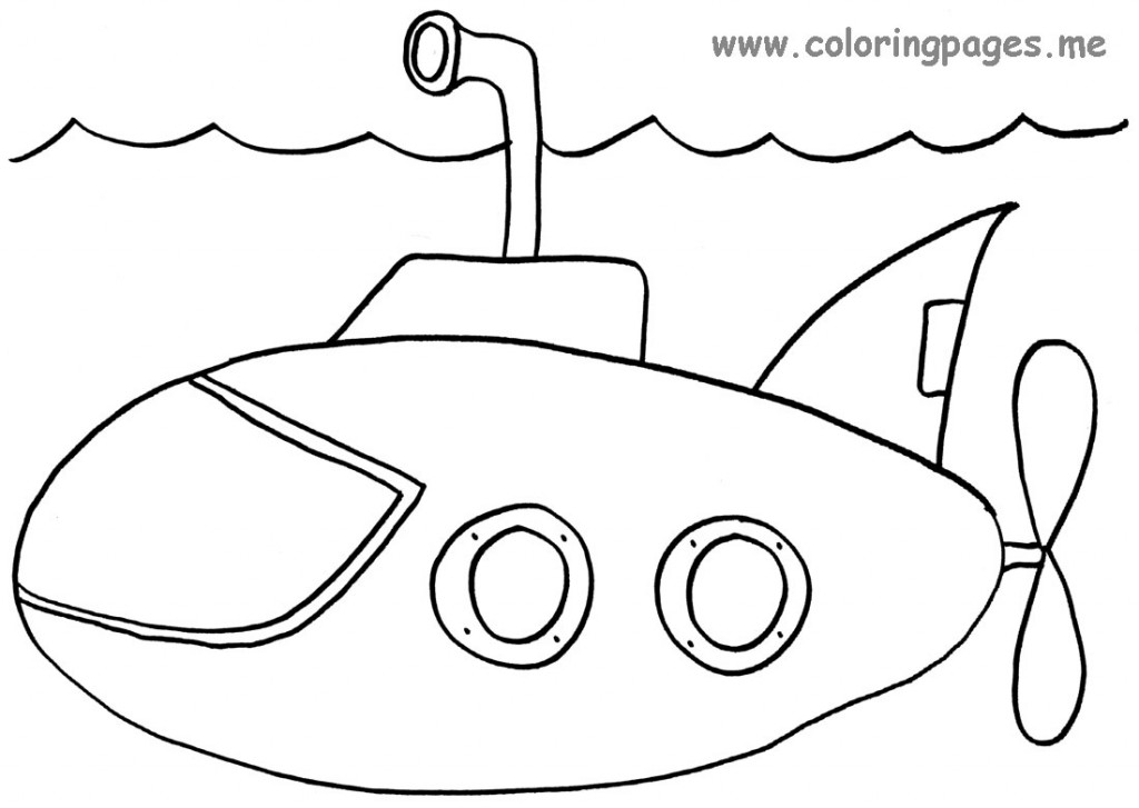 Submarine coloring pages to download and print for free
