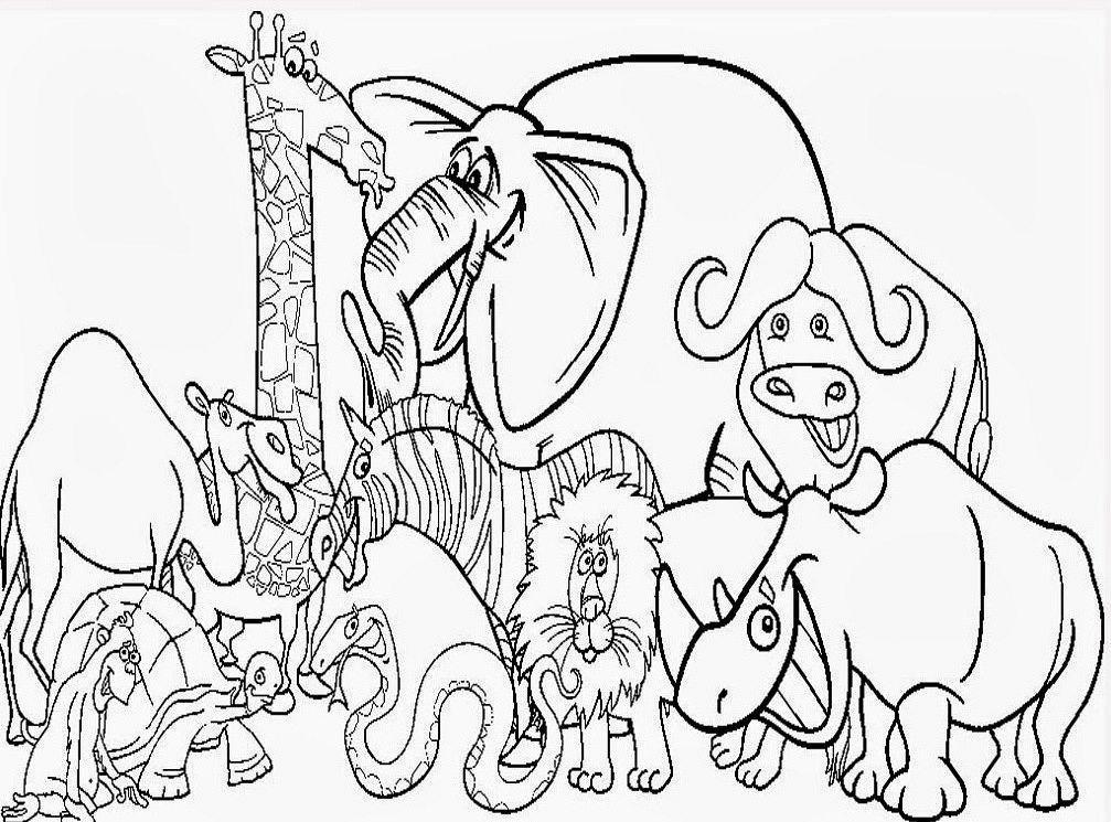 coloring pages of all animals - photo#7