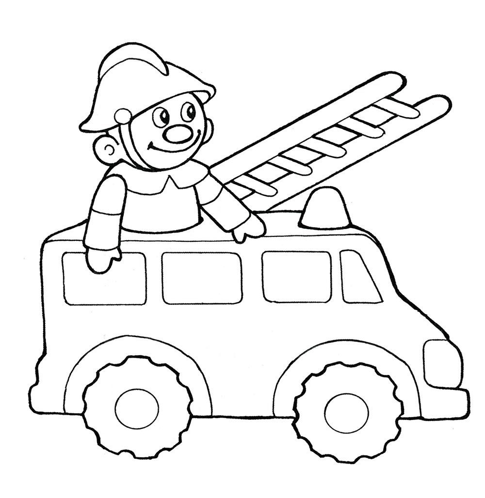 coloring pages of fire engines - photo#25