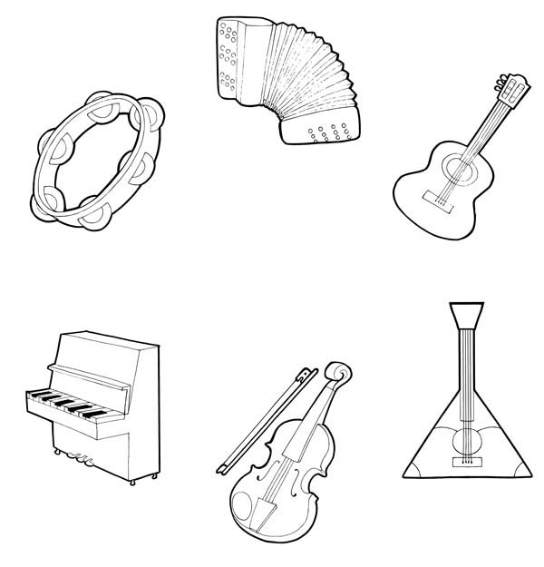 percussion instruments coloring pages - photo#41