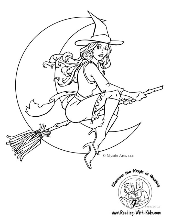 witch coloring pages - Witch Pictures To Color