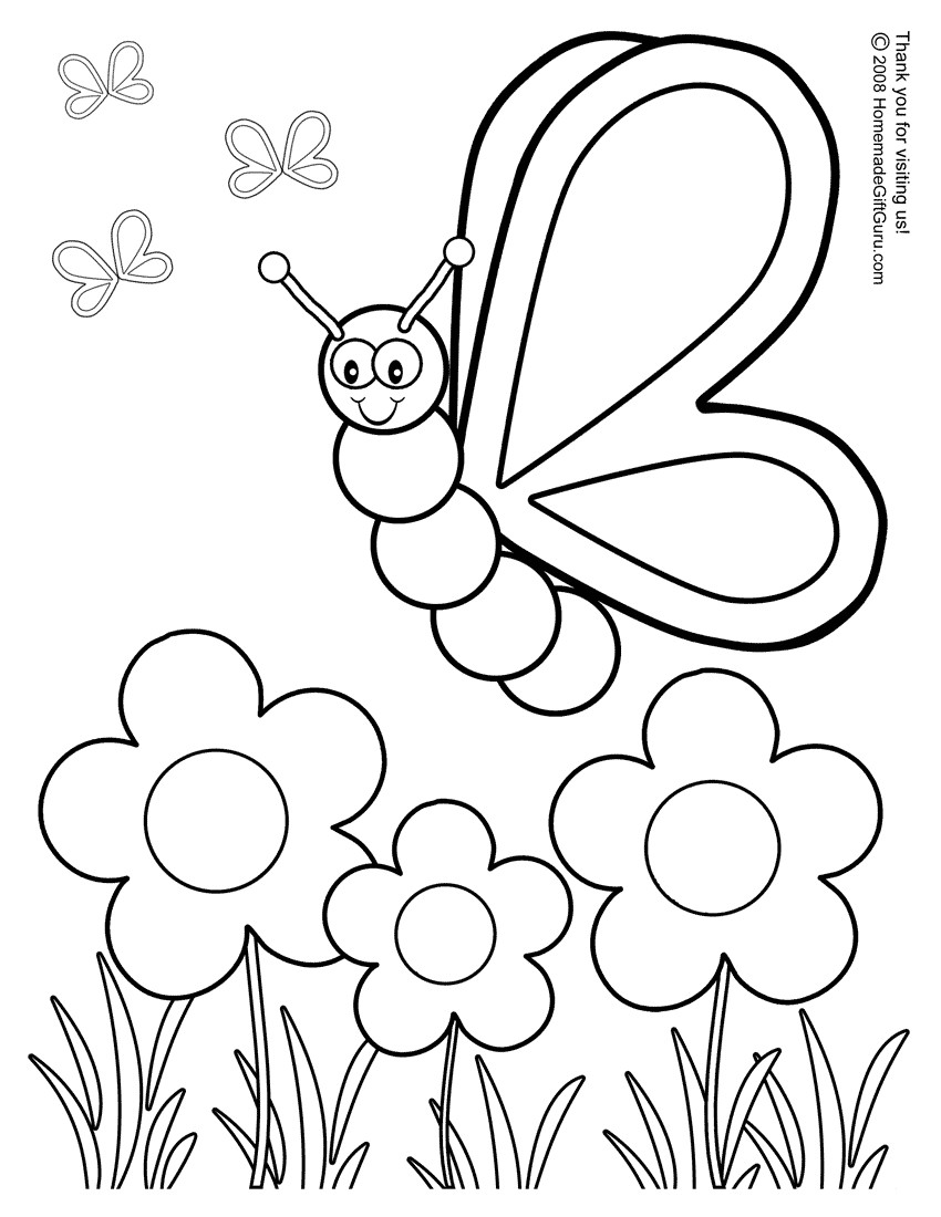 color pages for spring - spring coloring pages to download and print for free