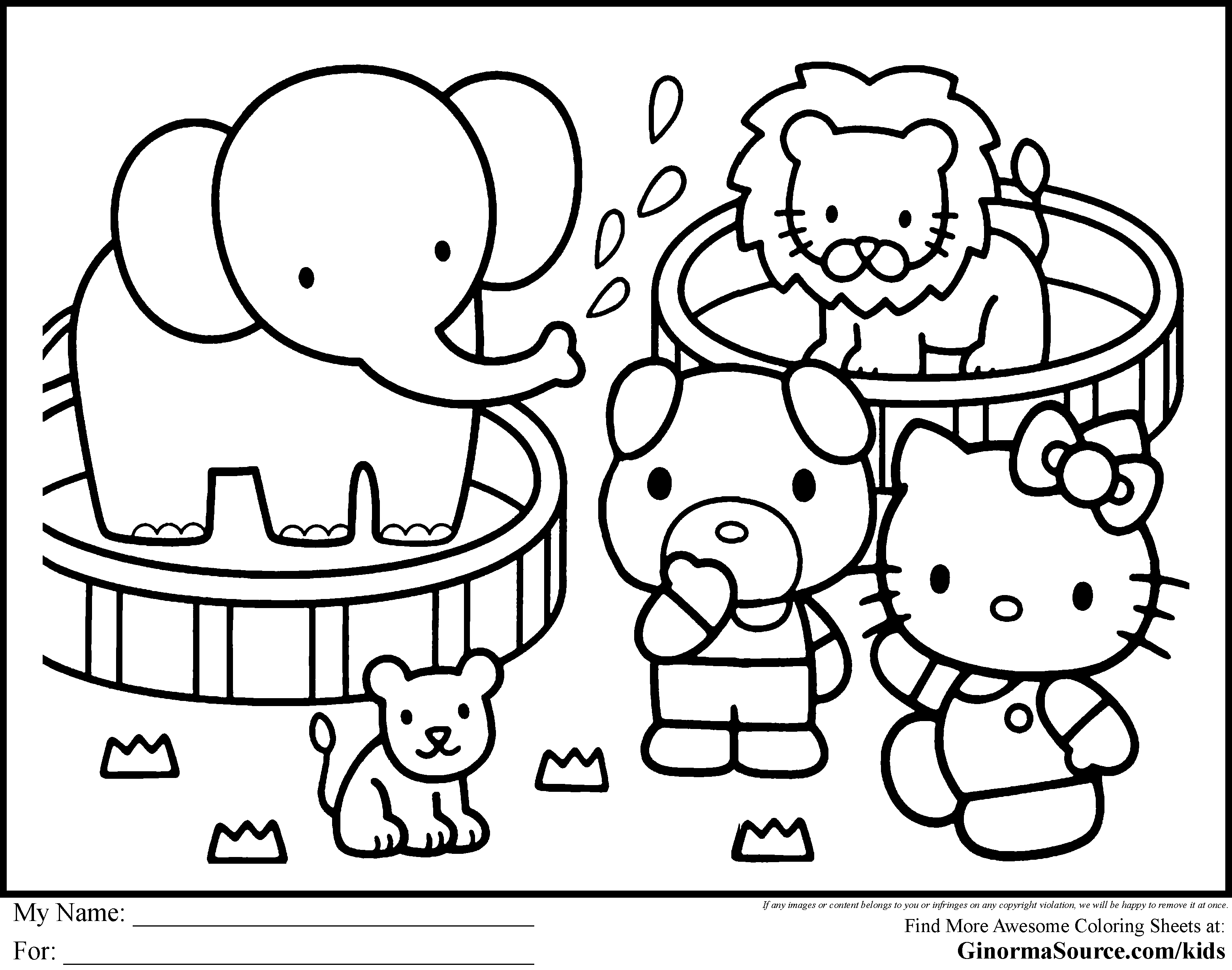 Coloring Pages Color Pages Of Hello Kitty hello kitty coloring pages to print futpal com free printable aquadiso