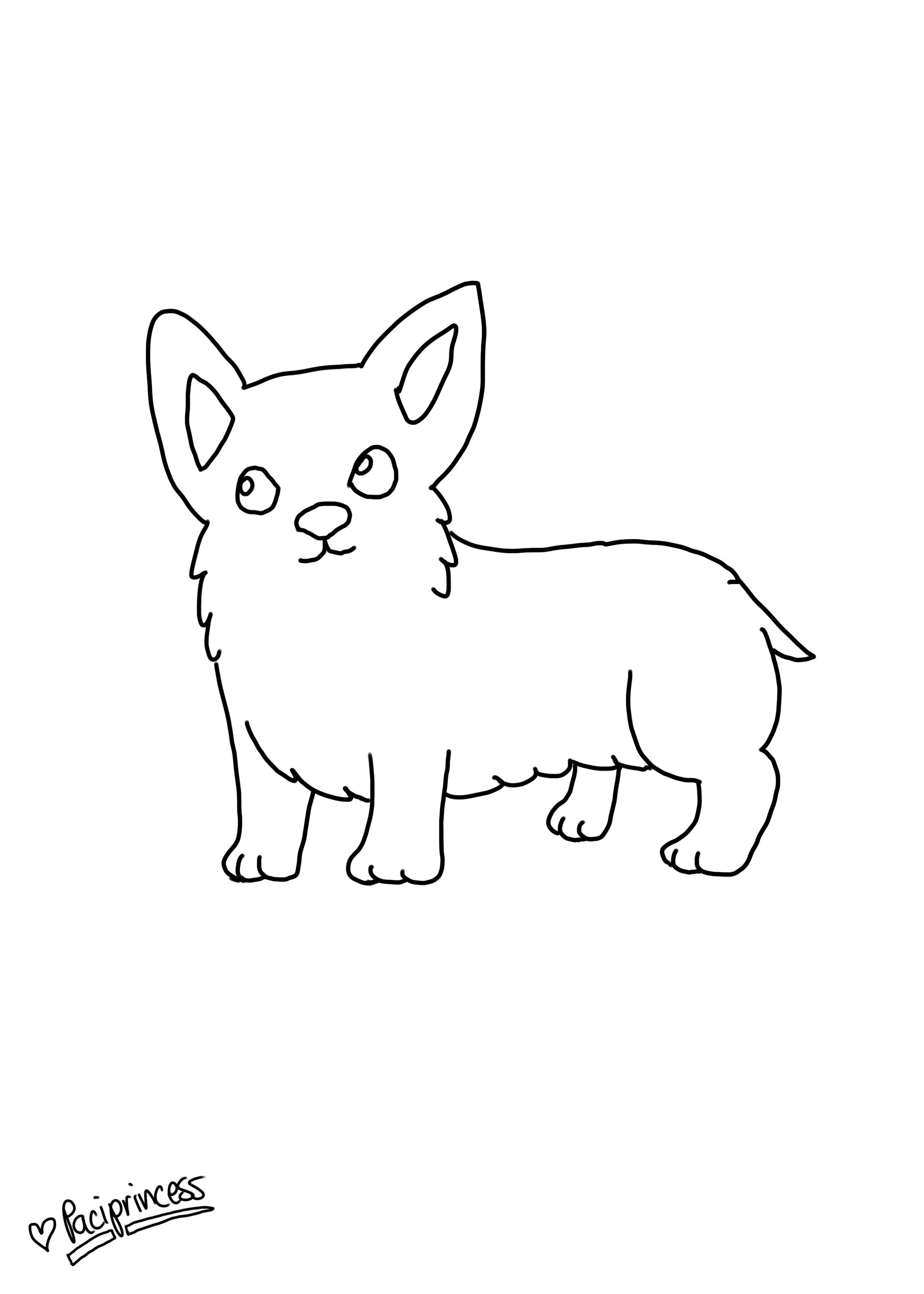 Coloring Pages Of Puppies Corgis