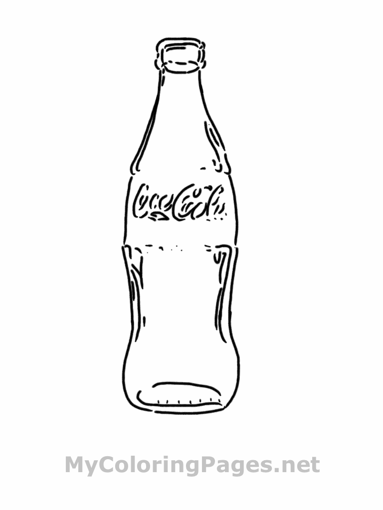 no soda coloring pages - photo#15