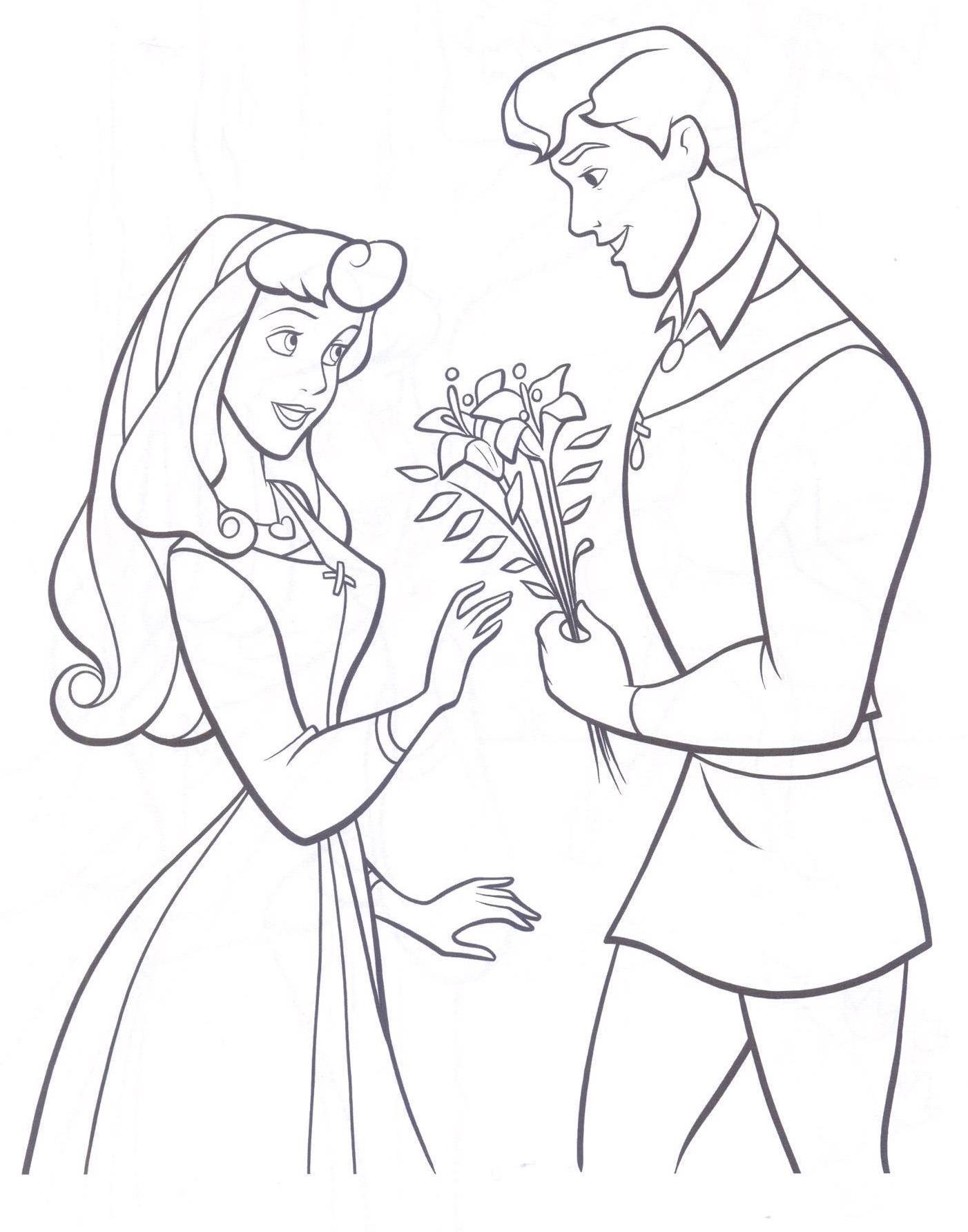 prince princess coloring pages - photo#50