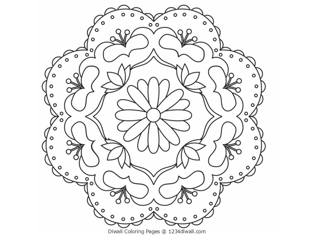 Rangoli Coloring Pages For Adults : Rangoli coloring pages to download and print for free