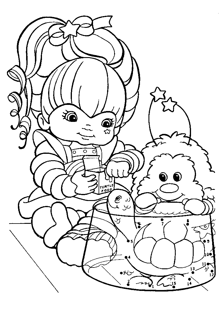 Rainbow brite coloring pages to download and print for free for Coloring page rainbow