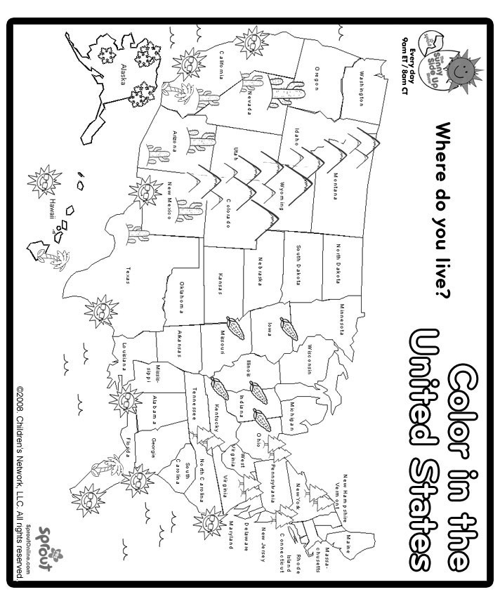 United States Map Coloring Page Regarding Warm Cool Coloring Best