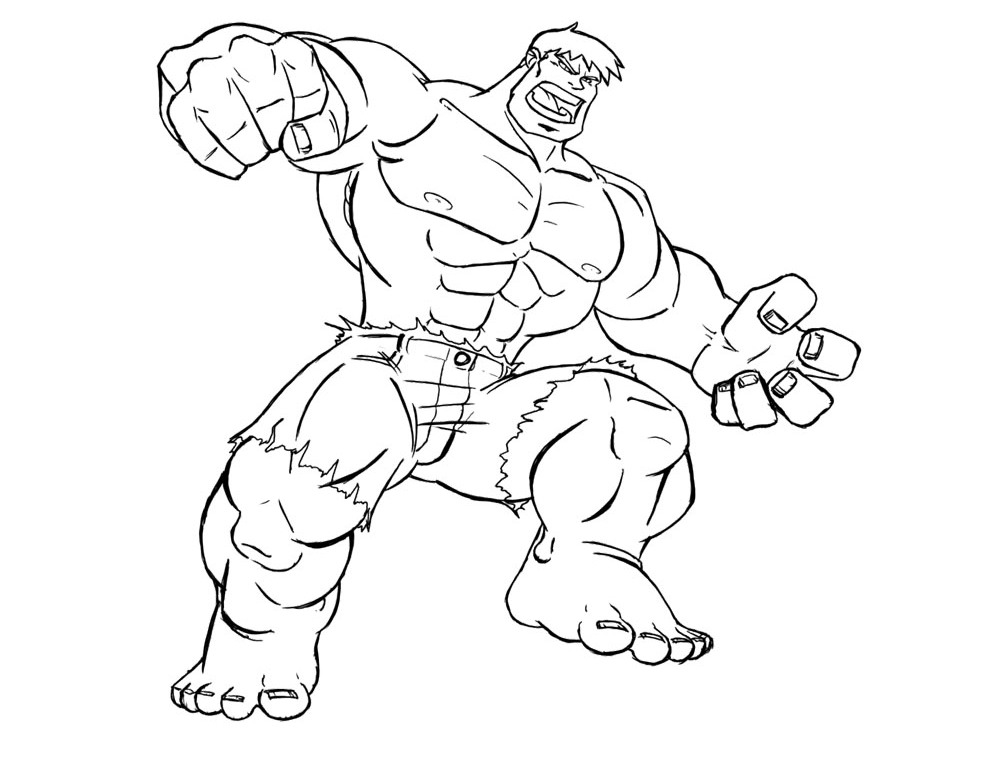 Hulk cartoon coloring pages download