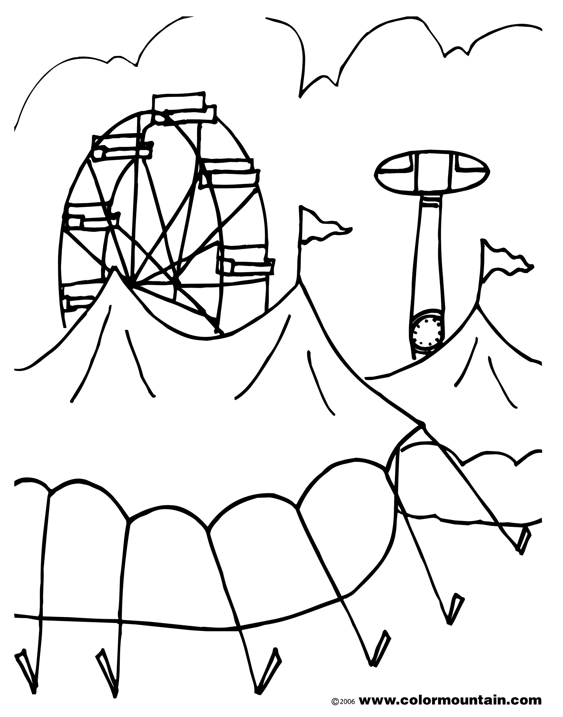 Carnival rides coloring pages download