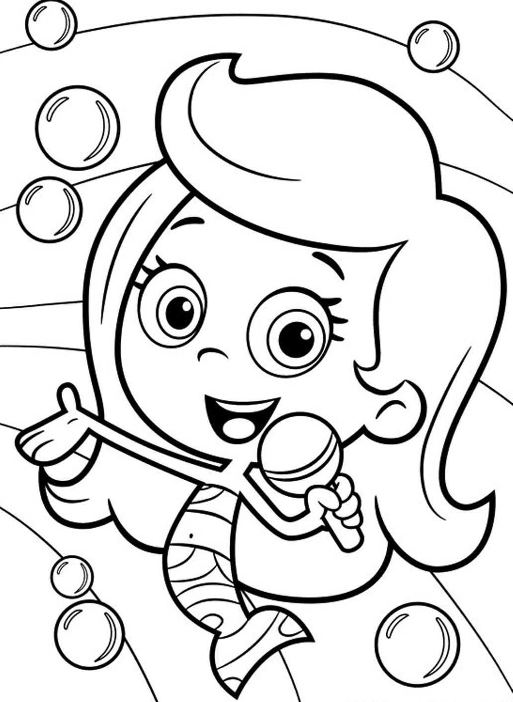 It's just a graphic of Amazing Bubble Guppies Printable Coloring Pages