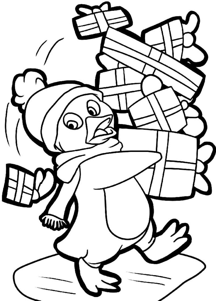 Cute animal christmas coloring pages download and print for Pictures of christmas coloring pages