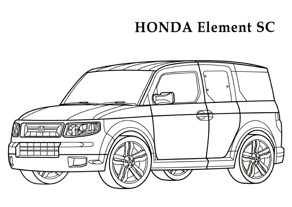 Honda coloring pages download and