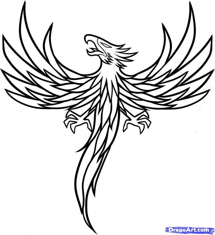 coloring pages of phoenix - photo#4