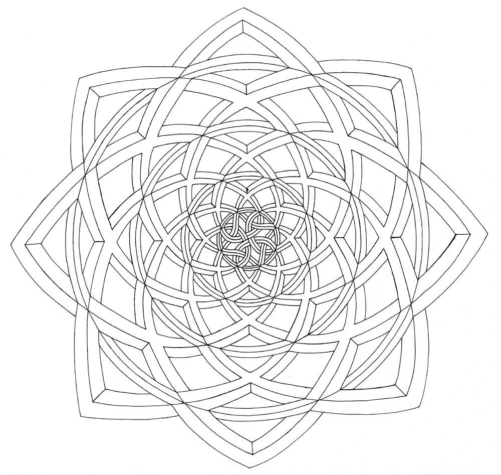 Optical illusion coloring pages to download and print for free