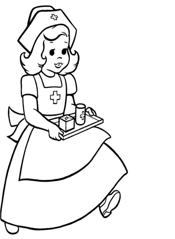 Nurse Coloring Pages Nurse Coloring Pages To Download And Print For Free