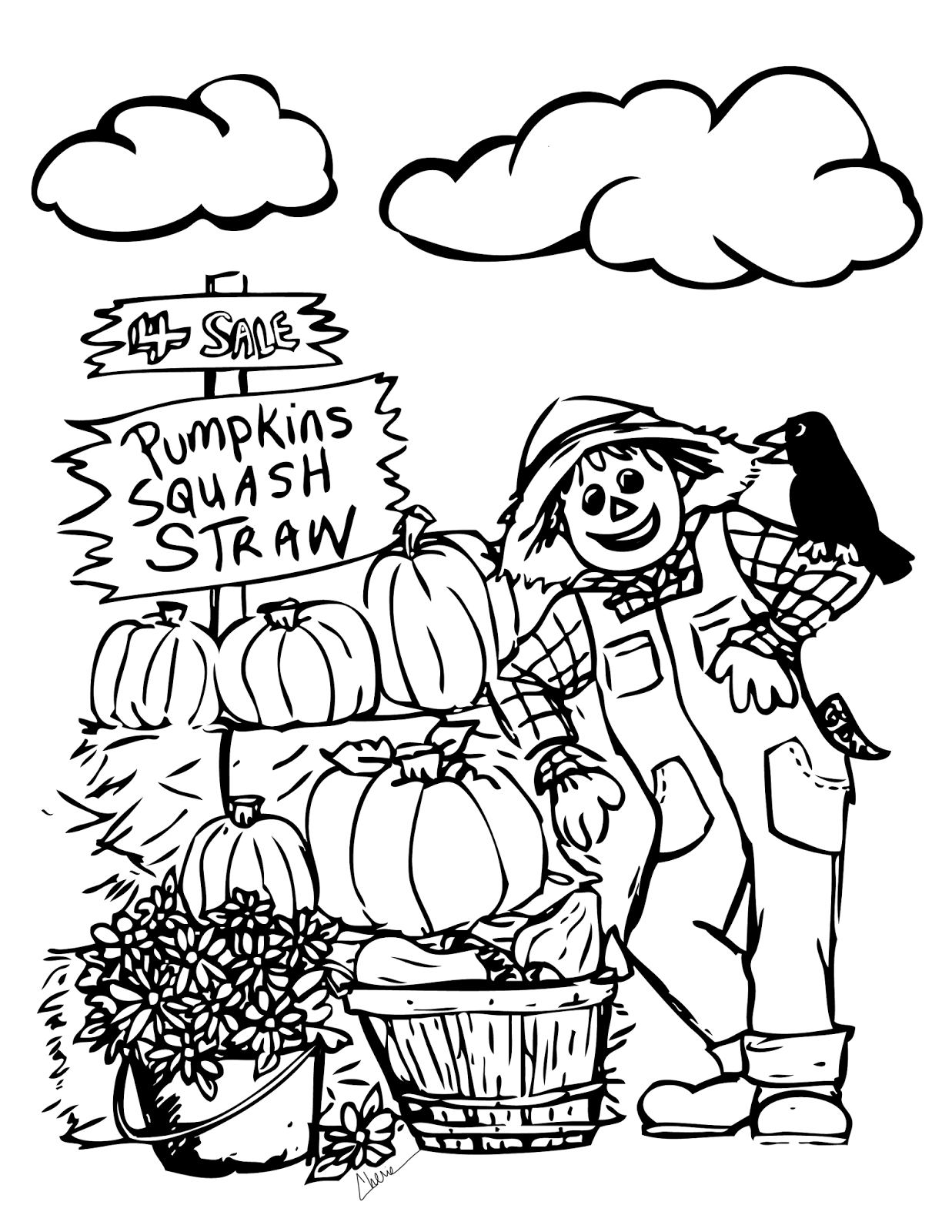 september printable coloring pages - photo#11