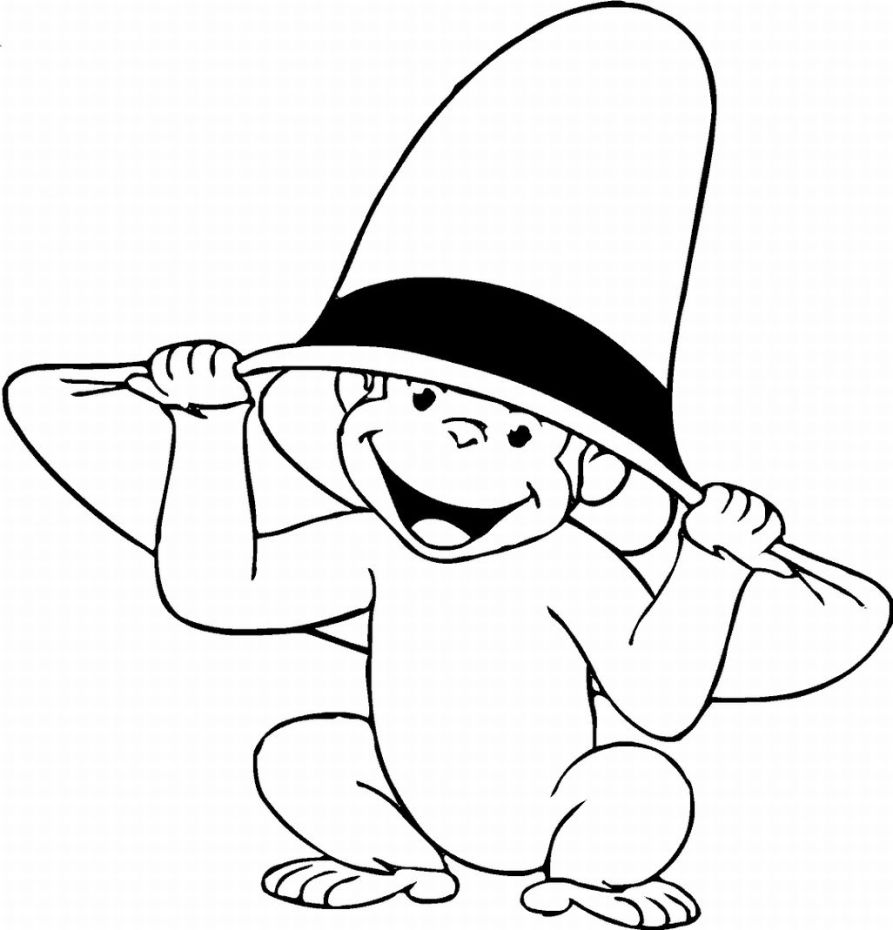 Monkey coloring pages to download