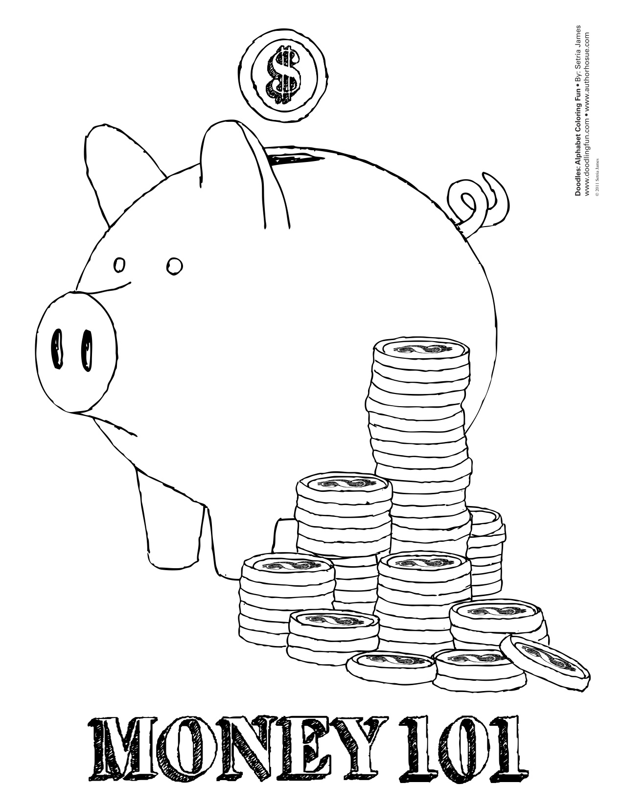 Money Coloring Worksheets : Money coloring pages to download and print for free