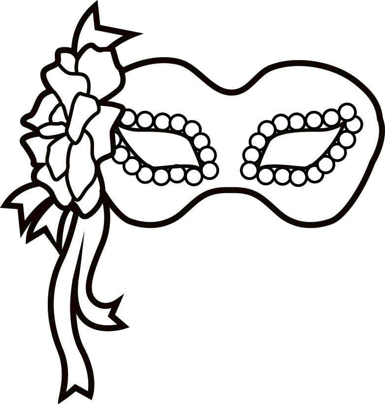 free mask coloring pages - photo#20