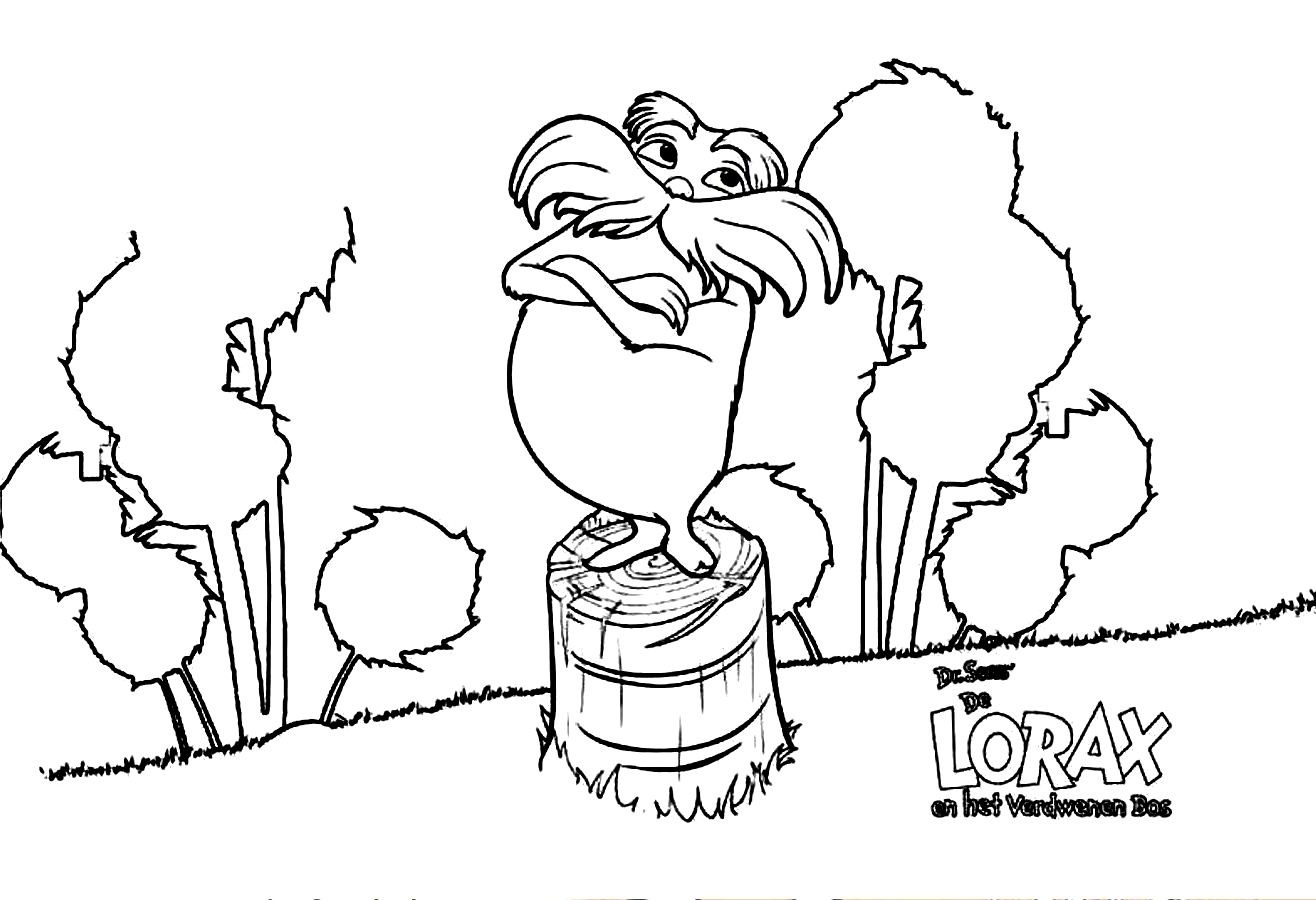 Lorax coloring pages to download