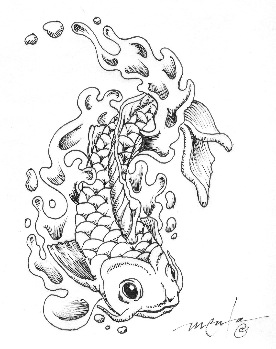 Koi fish coloring pages to download and print for free for Adult fish coloring pages