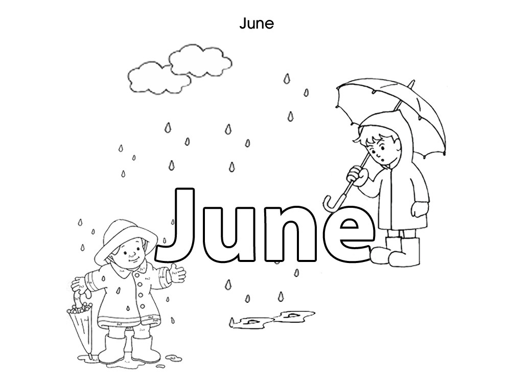 June coloring pages to download
