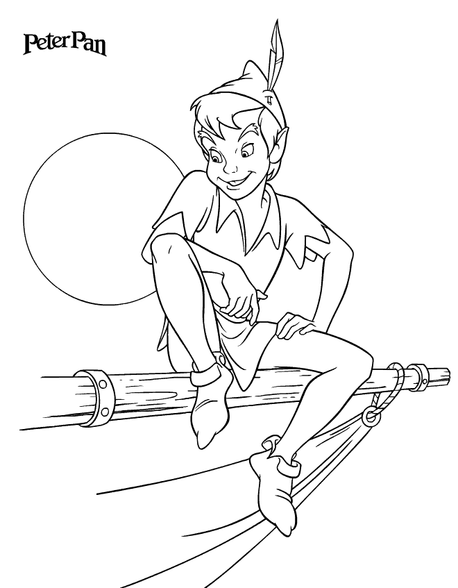 peter pan coloring pages - Peter Pan Mermaids Coloring Pages