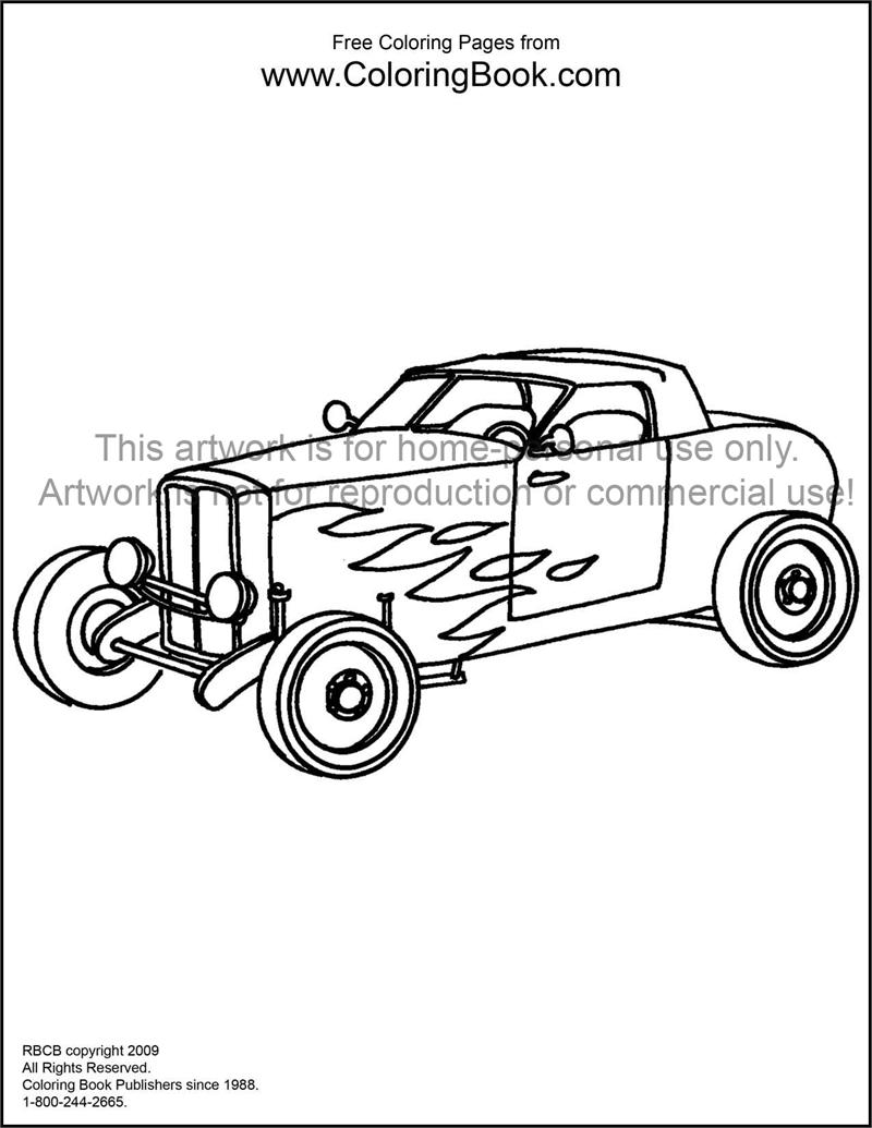 hot rod coloring pages - photo#30