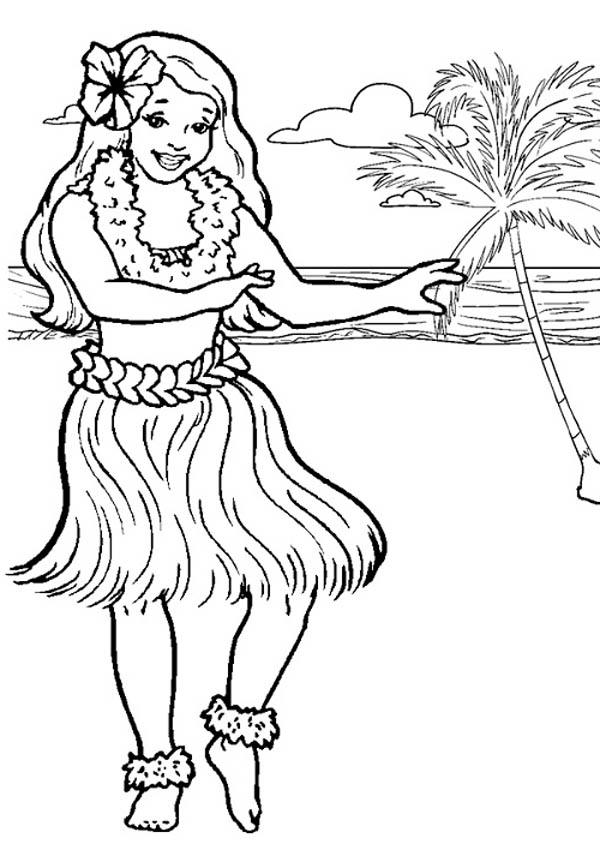 hawaiian coloring pages for children - photo#6