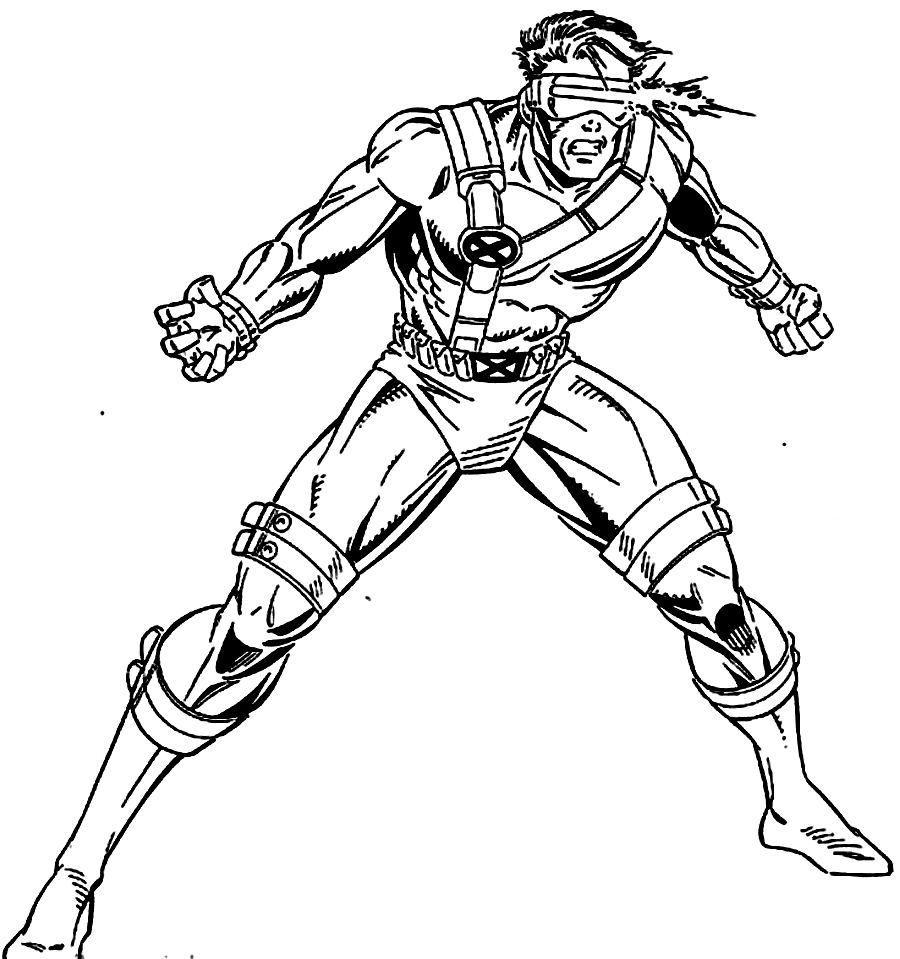 x men coloring book pages - photo #26