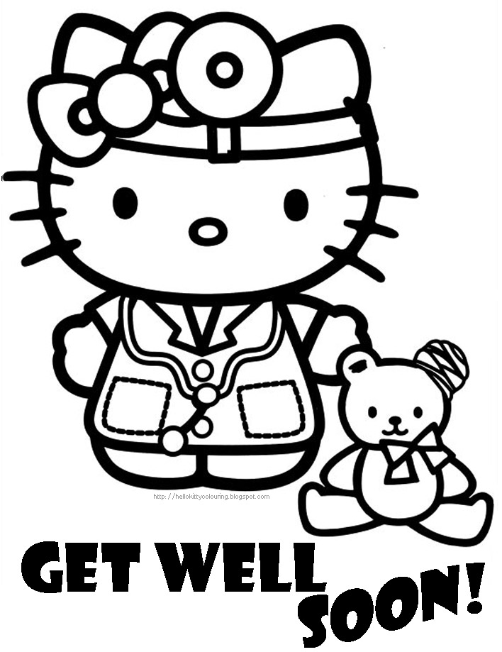 get well cards coloring pages - photo#27
