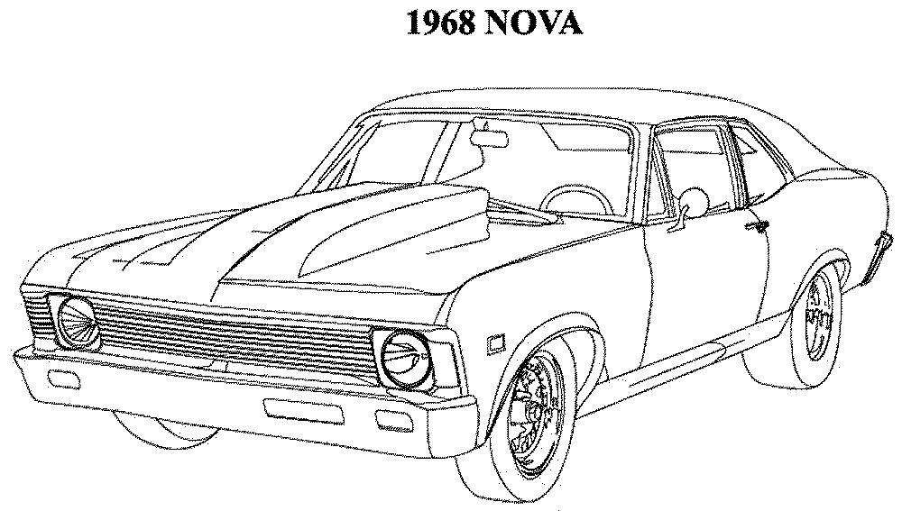 muscle car coloring pages printable - photo#5