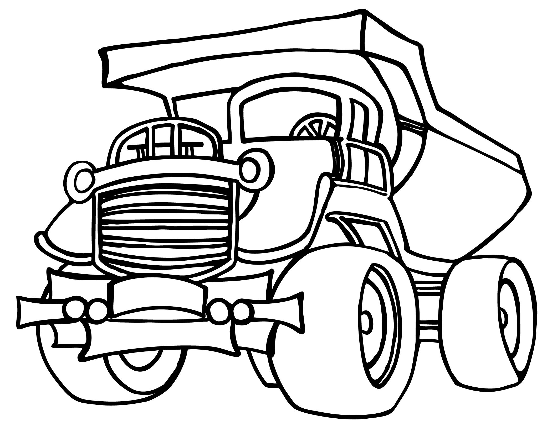 Dump truck coloring pages to download and print for free for Free truck coloring pages